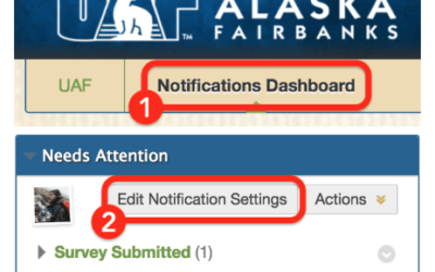 In the Notification Dashboard you can edit notification settings