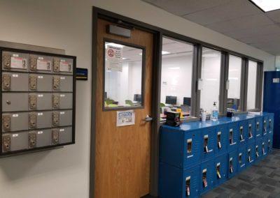 Exam Center Room and Lockers