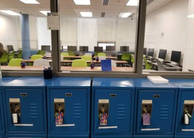 Exam Center Tables and Computers