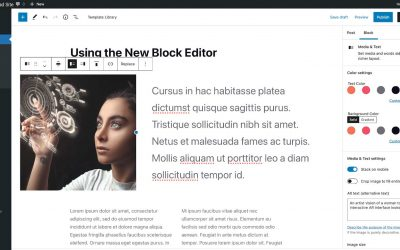 Tips for students using the new WordPress block editor